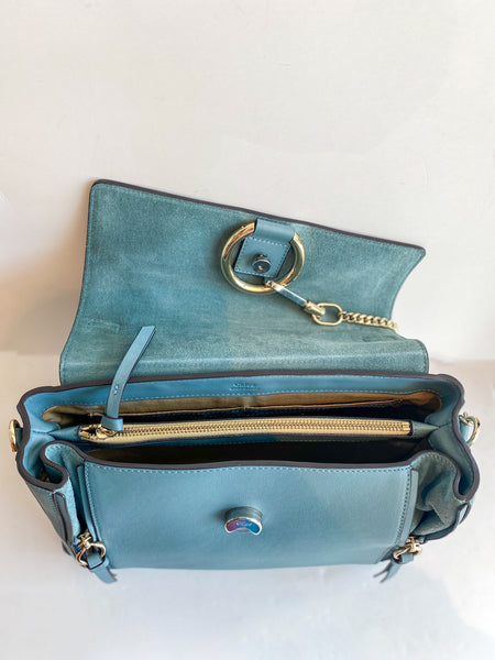 Chloe Faye Day Bag Stormy Blue Inside