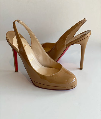 Christian Louboutin Patent Sling-back Heels