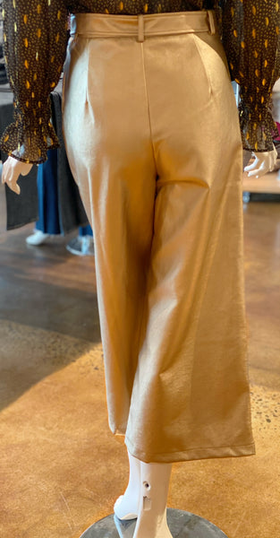 Frnch Paris Faux Leather Culotte Pants Back