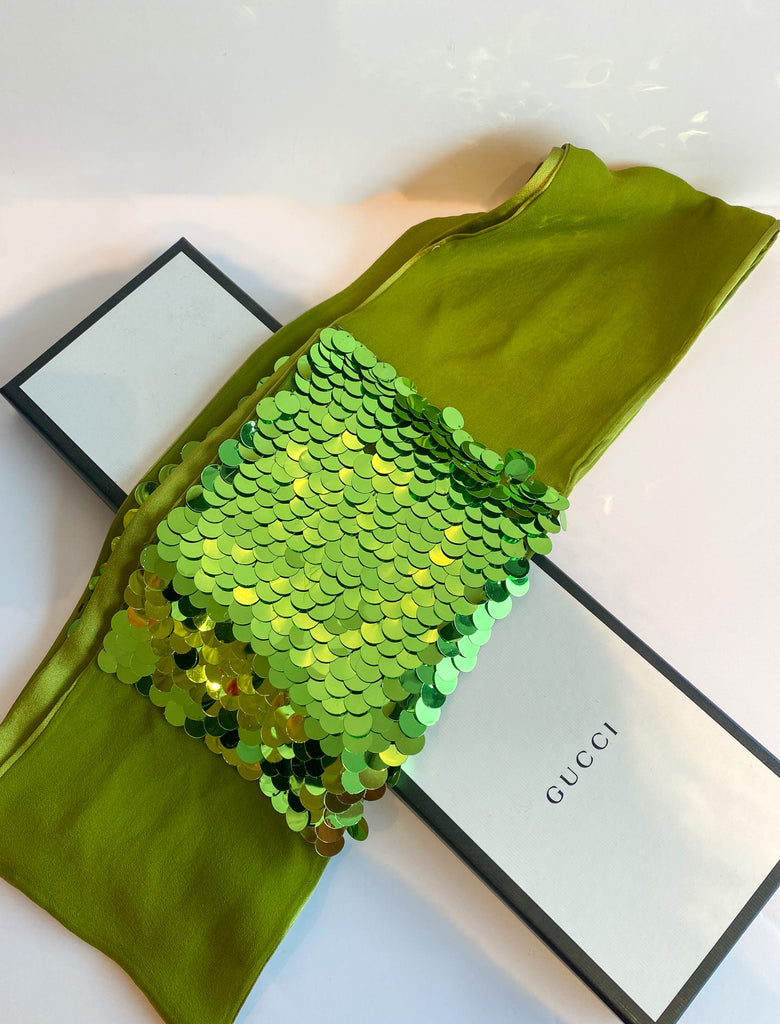 Gucci Green Sequin Scarf