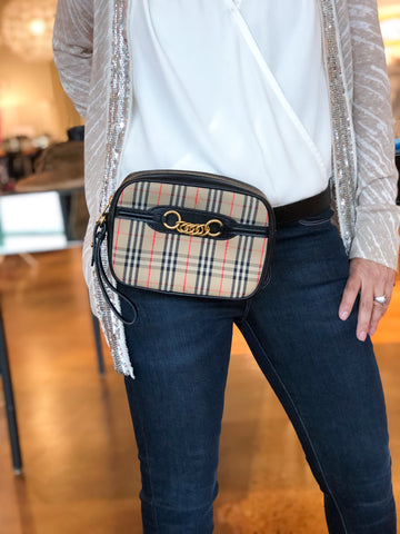 Burberry The 1983 Check Link Bum Bag Plaid