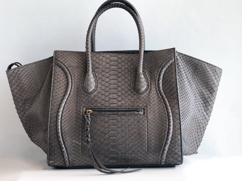Celine Phantom Python Luggage Tote in Medium