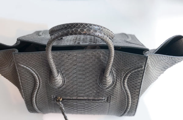 SOLD Céline Phantom Python Luggage Tote in Medium