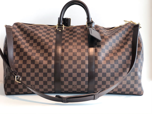 SOLD Louis Vuitton Bandouliere Damier 55 Keepall