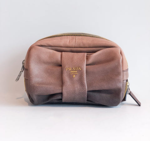 Prada Cervo Antik Bow Clutch