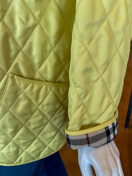 Burberry Yellow Quilted Utility Jacket