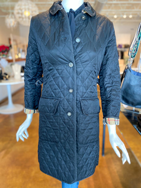 Burberry Black Quilted Utility Jacket