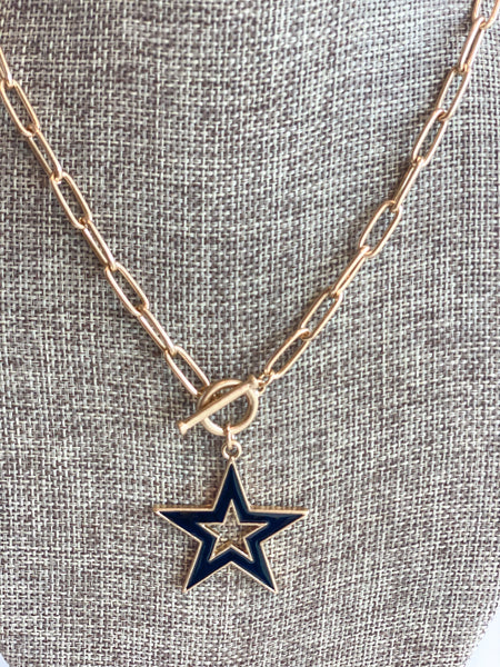 black star detail necklace