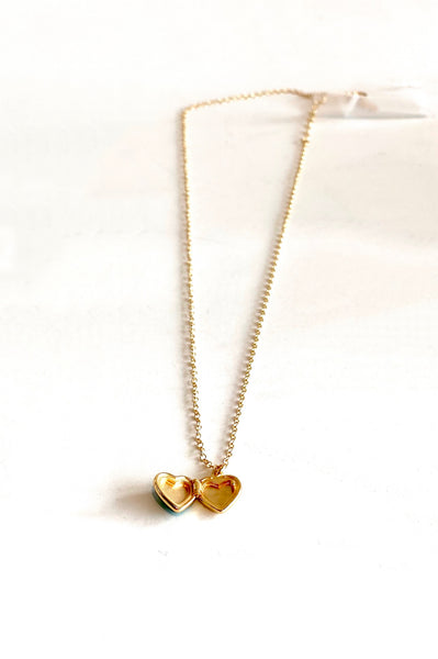 open locket heart necklace