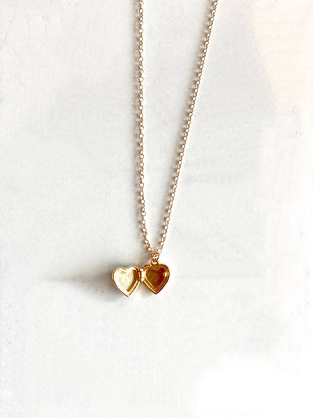 close detail heart locket