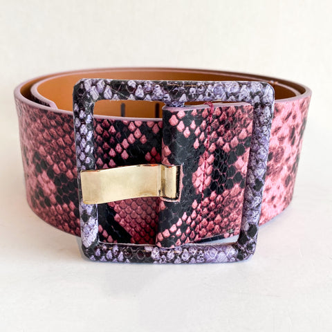 Veronica Beard Cinzia Embossed Snake Belt