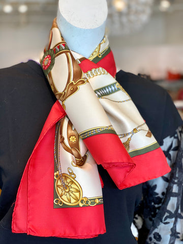 gucci horse scarf