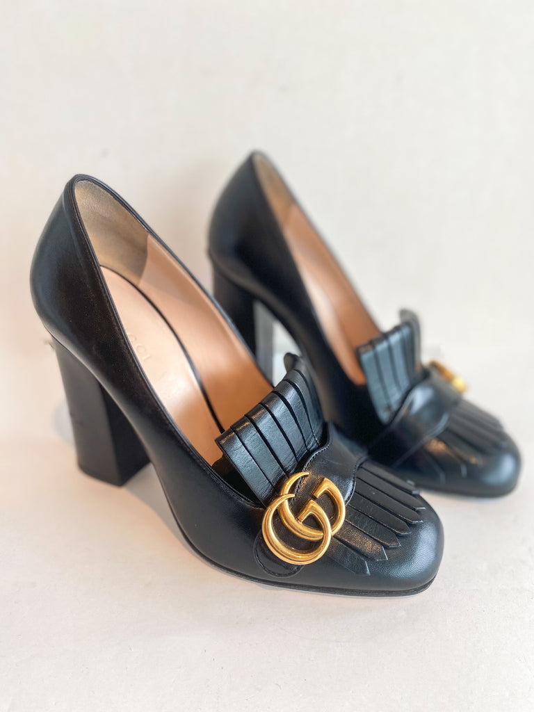 Gucci Marmont Logo Pumps