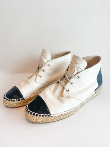 Chanel Lace-Up Espadrilles