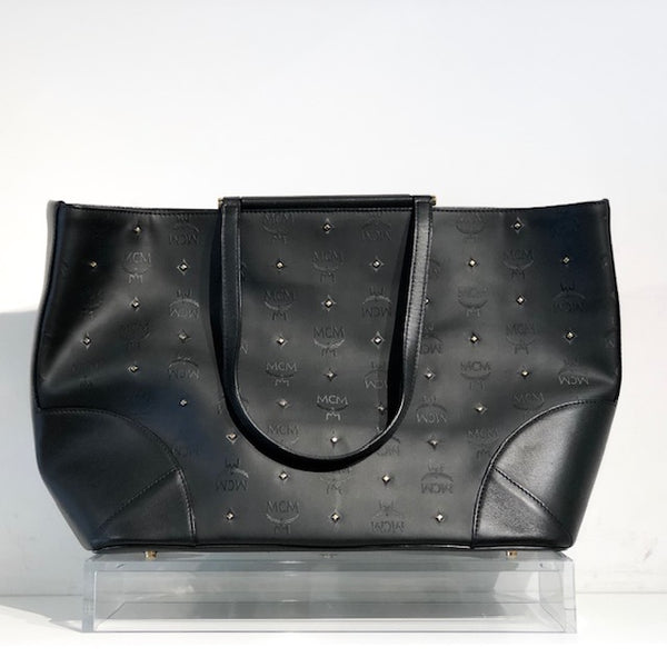 MCM Claudia Studs Leather Tote