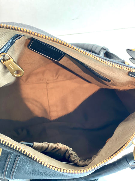 inside black chloe purse