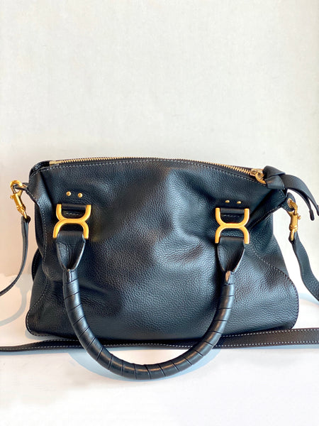 back of black chloe purse