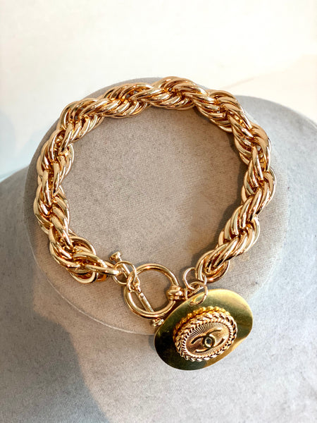 gold chanel chain bracelet