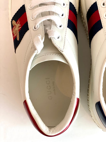 inside white gucci sneakers