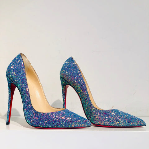 Christian Louboutin So Kate Glitter Dragonfly Pump