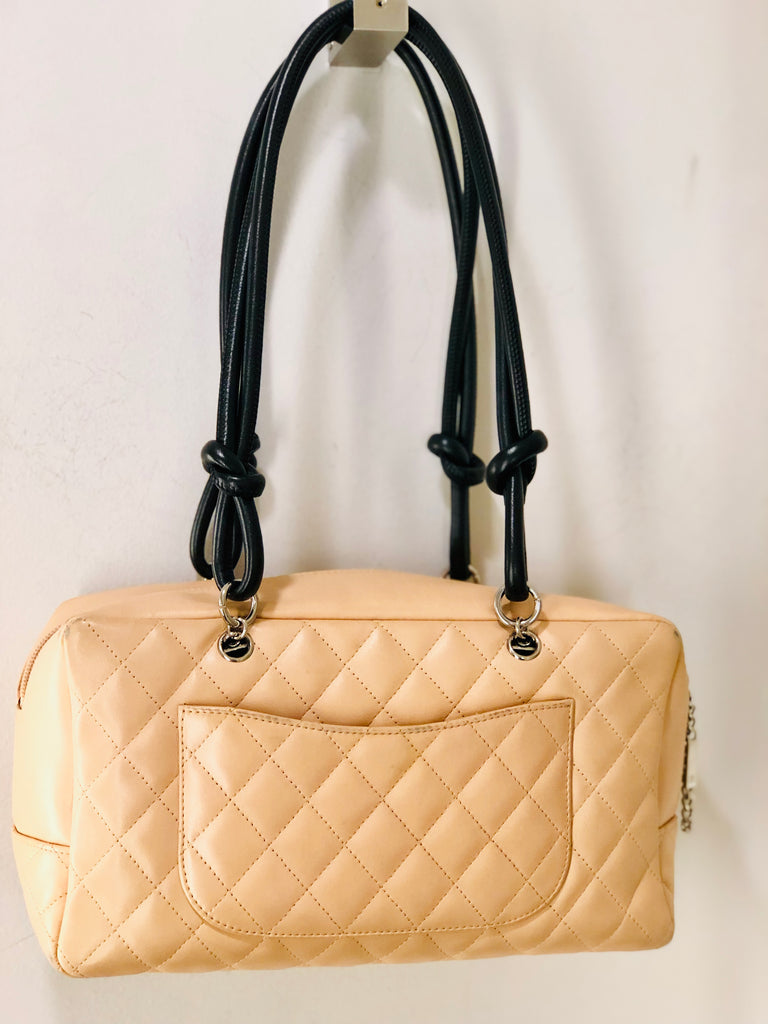 93f81a07dfd0 ... Chanel Cambon Bowler Leather Bag ...