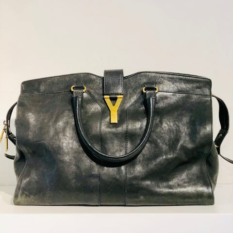 YSL Cabas Large Tote-Black