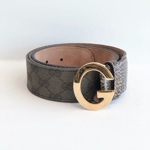SOLD Gucci Olive Belt Gold Buckle