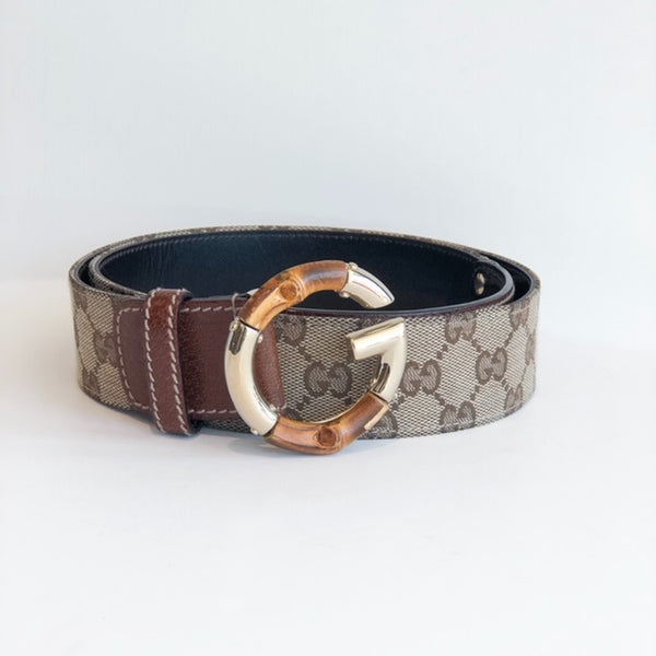 SOLD Gucci Belt Limited Edition Bambo Gold Buckle