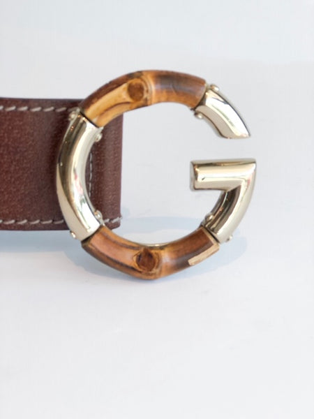 Gucci Belt Limited Edition Bamboo Gold Buckle