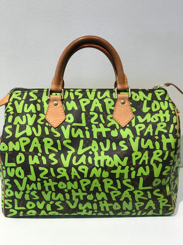 SOLD Louis Vuitton Stephen Sprouse Lime Green Graffiti Speedy 30