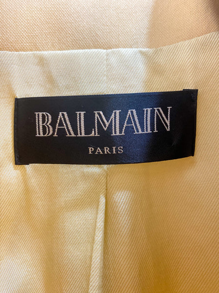 Balmain Paris Double-Breasted Wool Blazer Tag