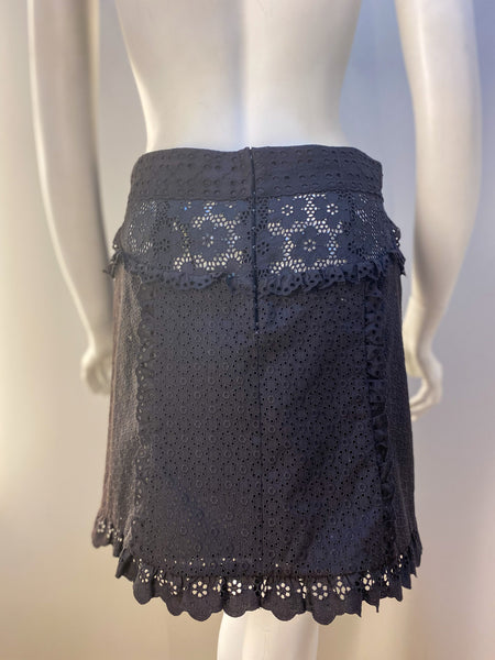 Louis Vuitton Lace Skirt Brown Back of Skirt