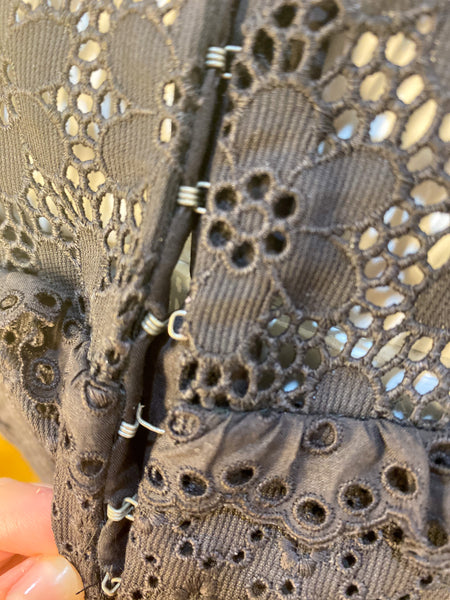 Louis Vuitton Lace Skirt Brown Hook and Eye Closure