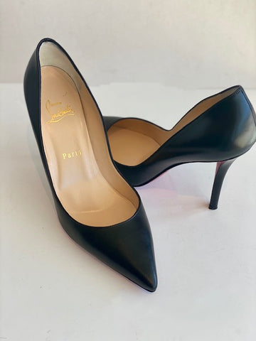 Christian Louboutin Piagelle Black Leather Heels