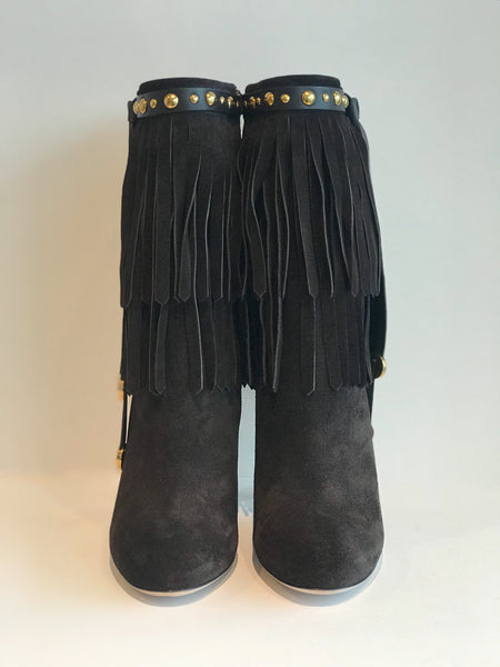 Gucci Fringe Heeled Booties
