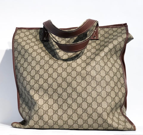 Gucci Zipper Tote Monogram Canvas