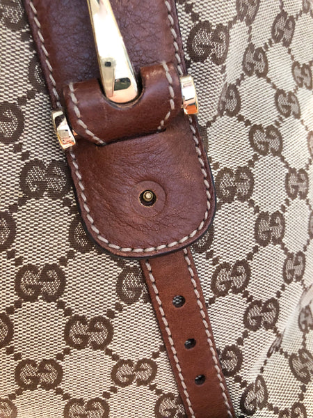 Gucci Monogram Pelham Canvas Bag