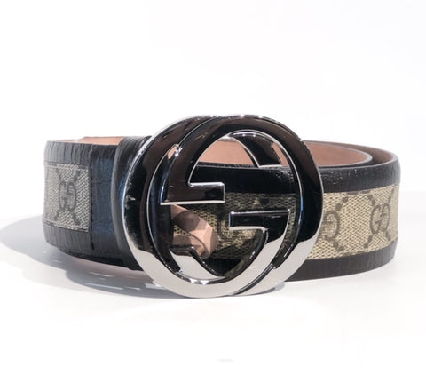 SOLD Gucci Guccissima Logo Belt