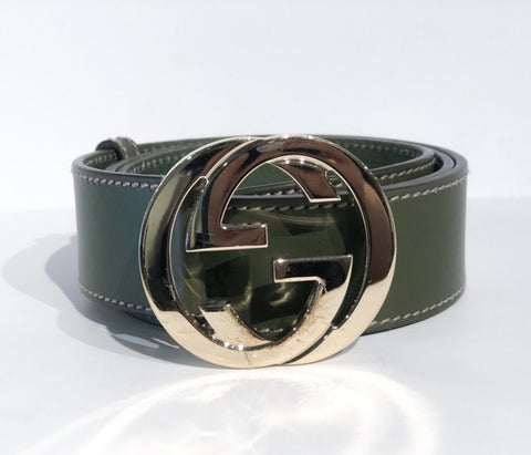 SOLD Gucci Guccissima Leather Belt