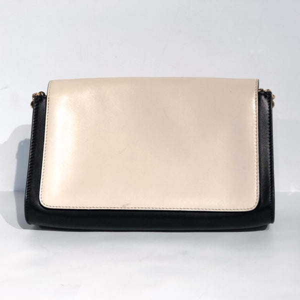 Chloe Elle Clutch Two Tone Black White