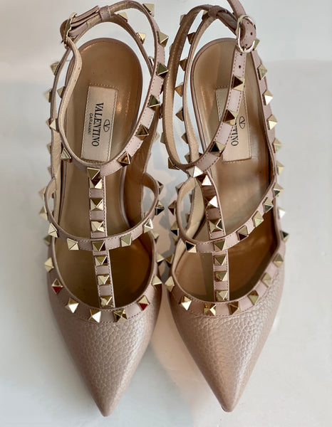 SOLD Valentino Rockstud Leather Caged Pump