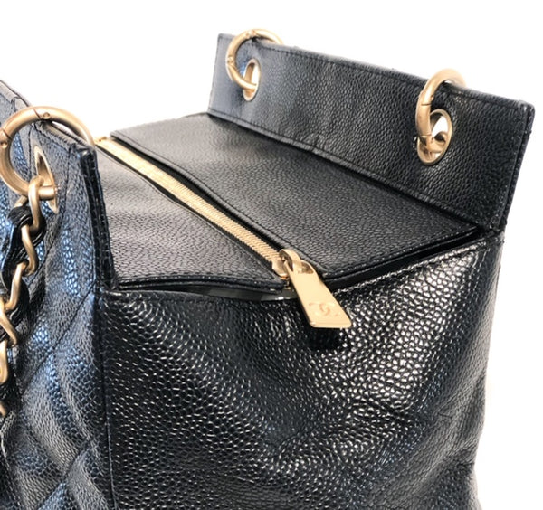 Chanel Petite Timeless Tote Black Zipper Closure
