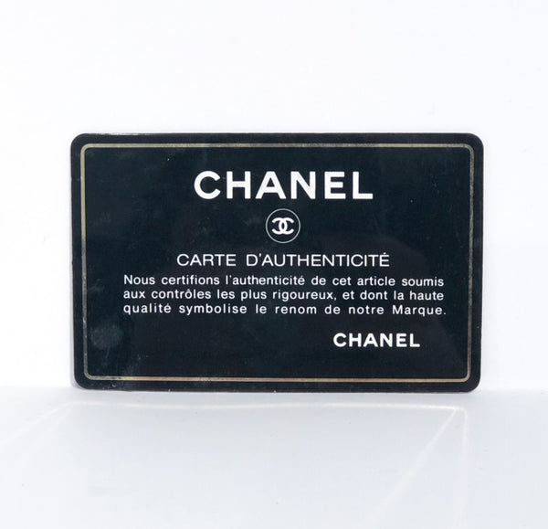 Chanel Petite Timeless Tote Bag Black Authentication Card