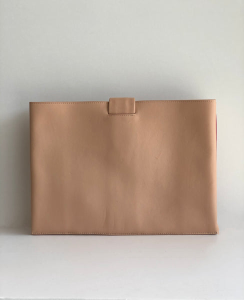 Celine Lambskin Knotted Clutch Back of Bag