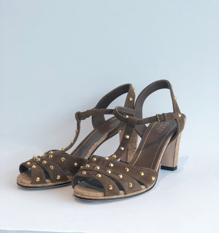 SOLD Gucci Studded Suede Heels