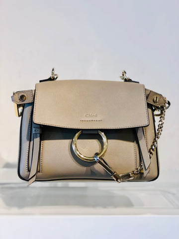 Chloe Mini Faye Day Shoulder Bag Leather Gray