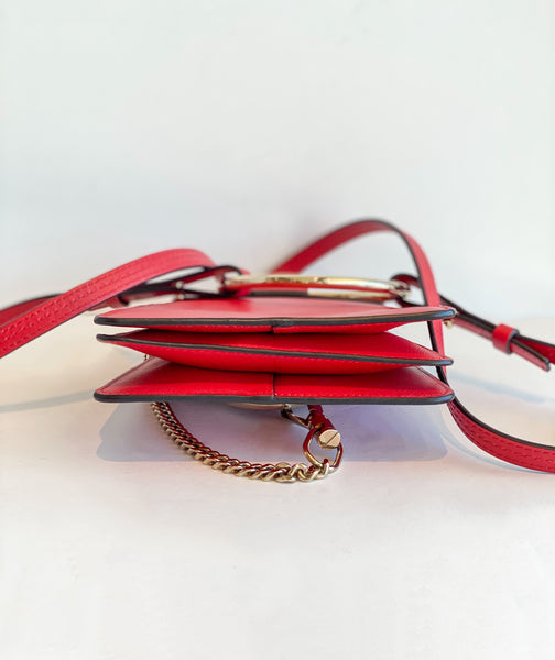 Chloe Mini Faye Bracelet Bag Red Bottom of Bag