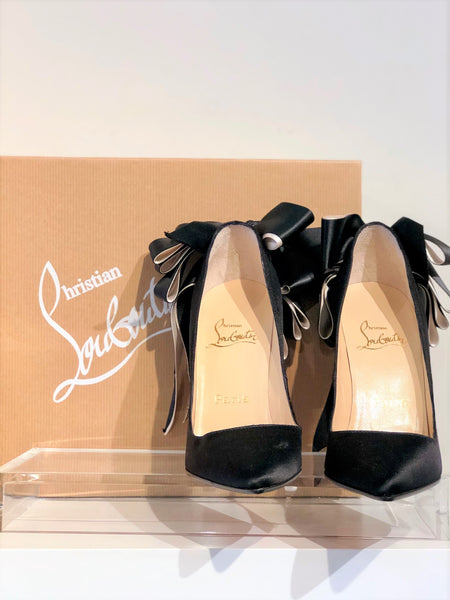 SOLD Christian Louboutin Anemone Satin Pumps