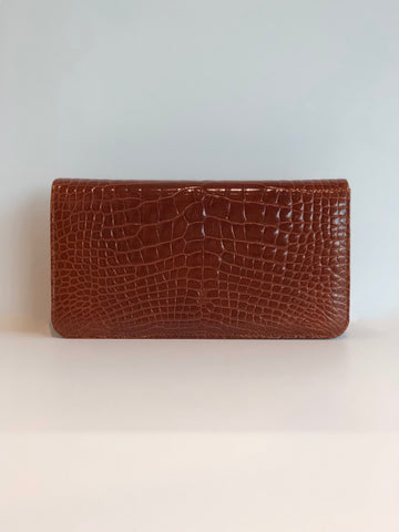 Manolo Blahnik Alligator Clutch With Strap