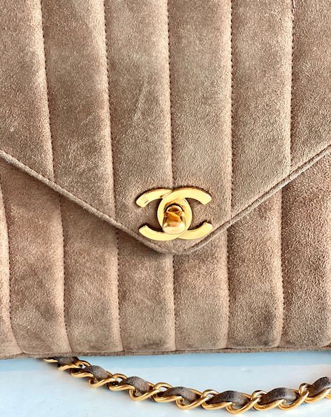 Chanel Vintage Suede Bag